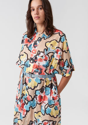 Hope Billow Dress Wave Print - Mojo Independent Store