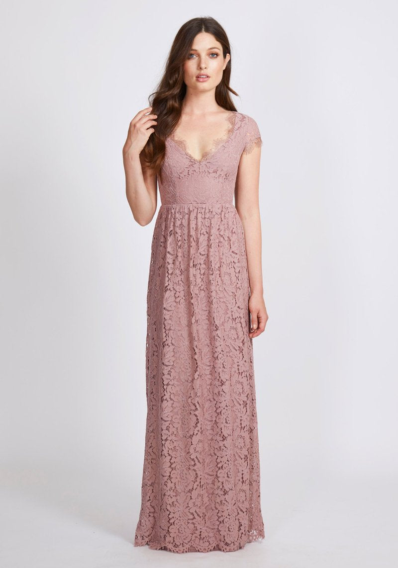 Dry Lake Kayla Long Dress, Dusty Rose
