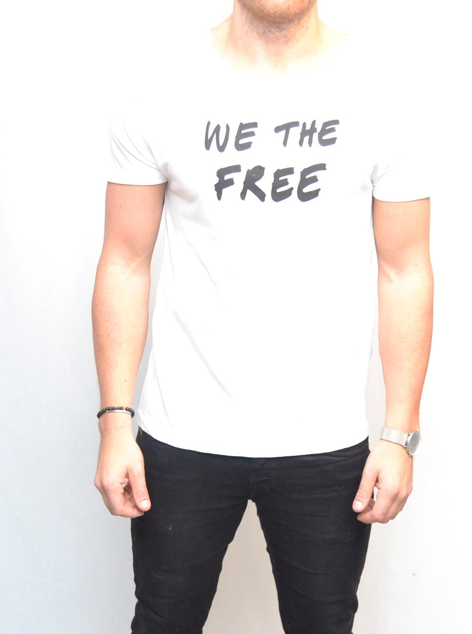 Red Collar Project + Falling Whistles We The Free T-shirt White