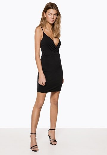 Ivyrevel Wrap Mini Dress Black