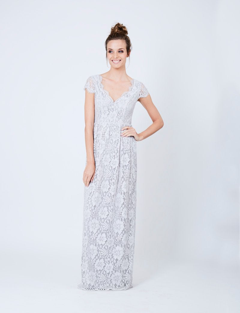 Dry Lake Summer Date Long Dress Off White - Mojo Independent Store