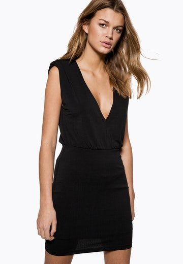 Ivyrevel Sharp Shoulder Mini Dress Black