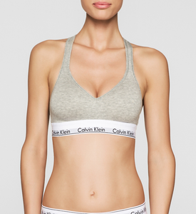 Calvin Klein Modern Cotton Bralette Grey Heather