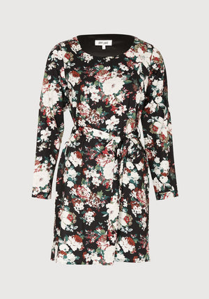 Dry Lake Kate Dress Frozen Flower Black - Mojo Independent Store