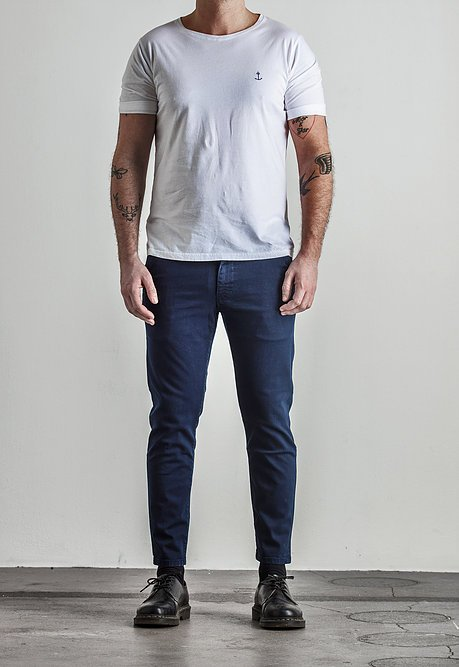 The Blue Uniform Bernta Chino Navy - Mojo Independent Store
