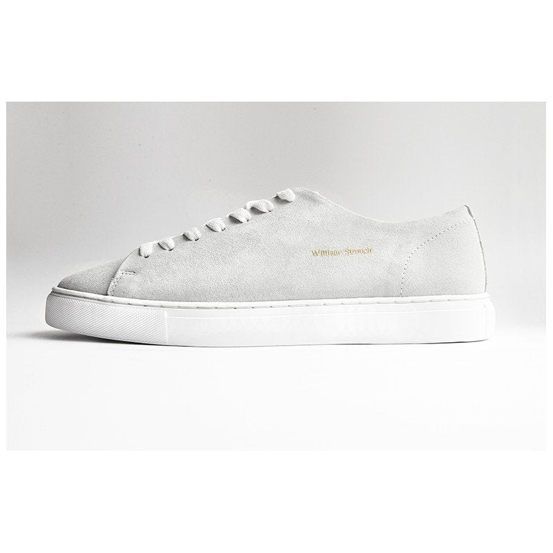 William Strouch Classic Suede Sneakers Off White - Mojo Independent Store