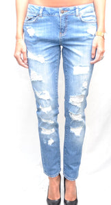 Un Jean Monaco NW Stright Jeans Repaired Beach Blue