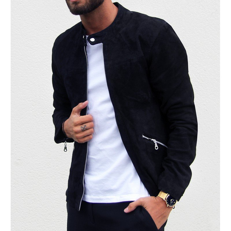 William Strouch Suede Jacket Black - Mojo Independent Store
