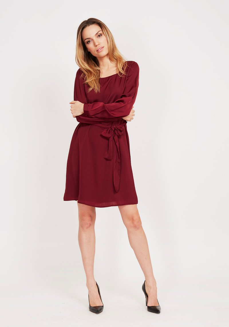 Dry Lake Kate Dress Ruby Wine - Mojo Independent Store