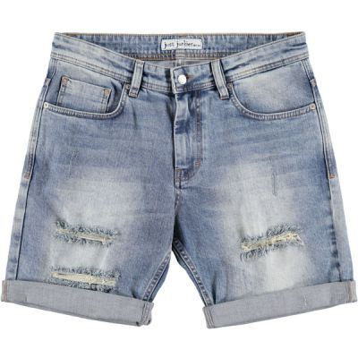 Just Junkies Mike Shorts Stress Blue Holes - Mojo Independent Store