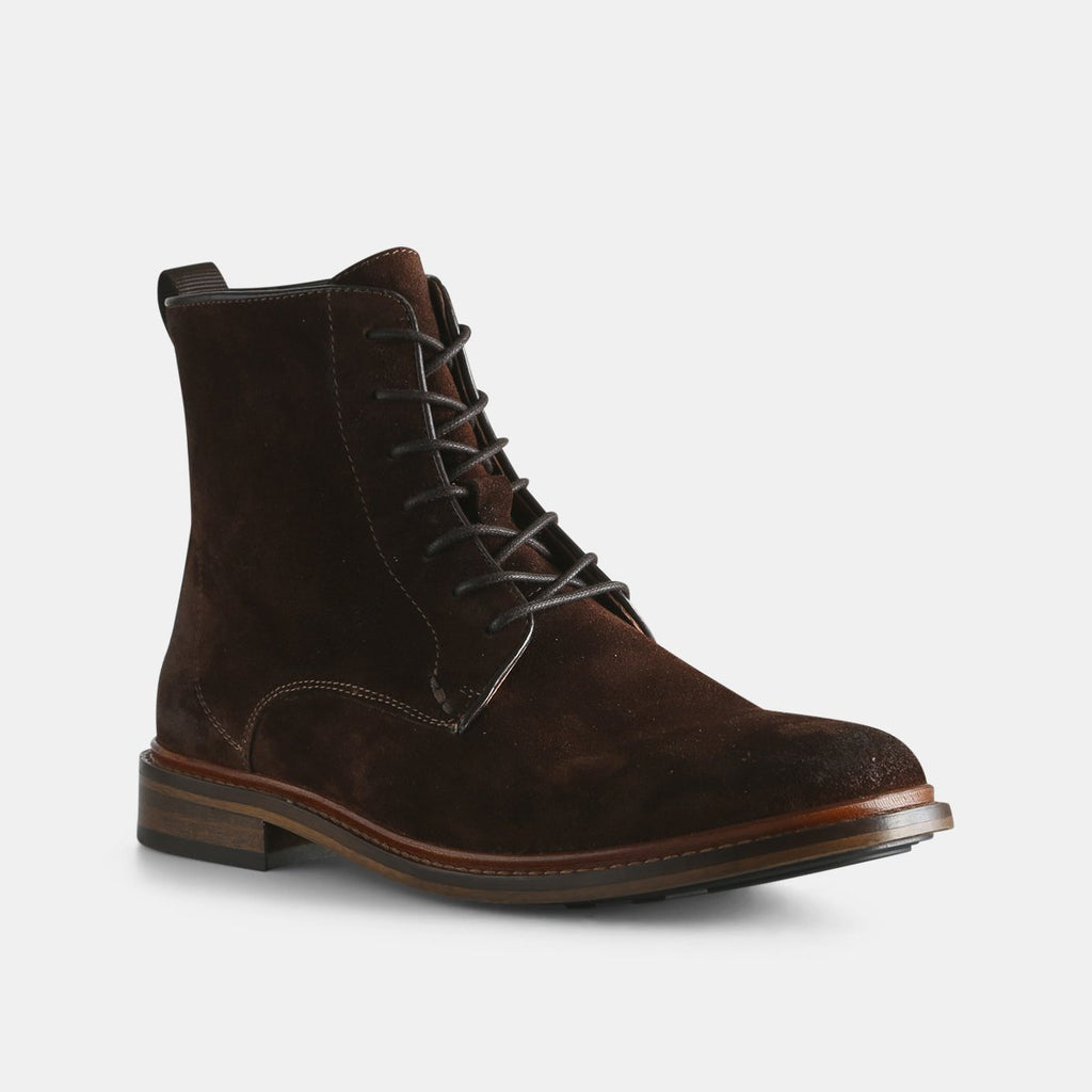Shoe the Bear Ned Suede Lace-up Boot , Brown - Mojo Independent Store