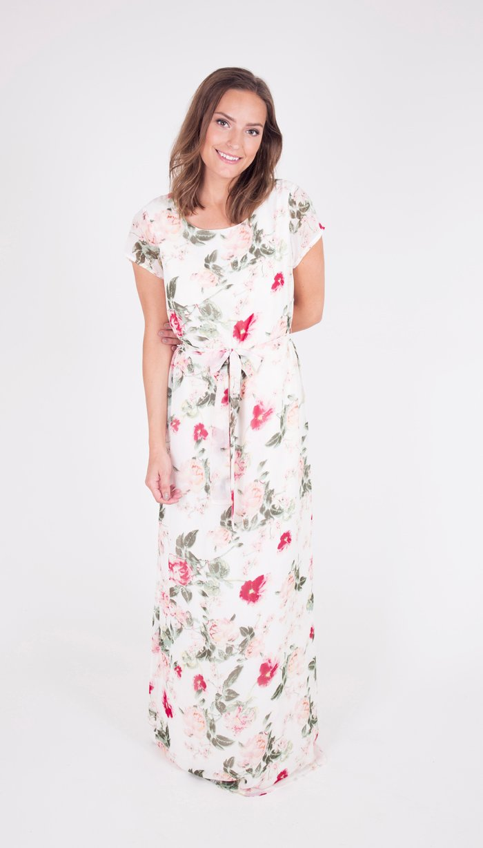 Dry Lake Flower Power Long Dress Flower Print - Mojo Independent Store