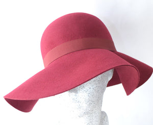 Dry Lake Bella Hat burgundy rose - Mojo Independent Store