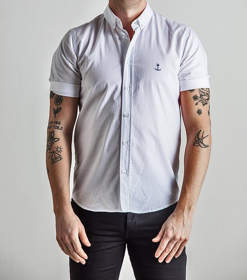 The Blue Uniform Herrman SS Shirt White - Mojo Independent Store