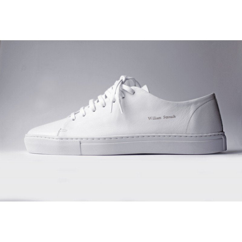 William Strouch White Classic Sneakers - Mojo Independent Store