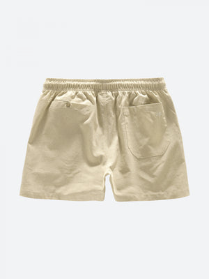 Oas Vacation Shorts Beige Linne - Mojo Independent Store