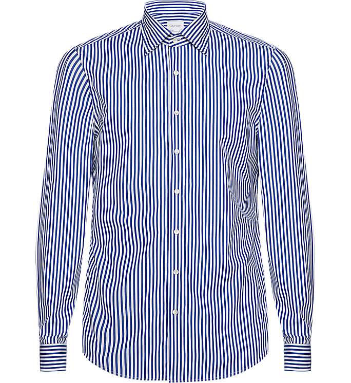 Calvin Klein 2Ply Bold Stripe Shirt Df Navy - Mojo Independent Store