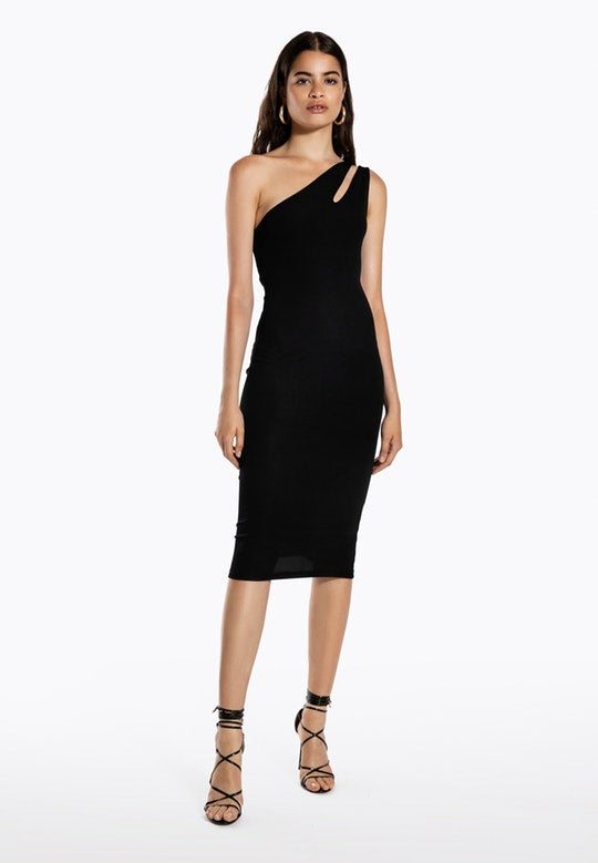 Ivyrevel Cutout One Shoulder Dress Black