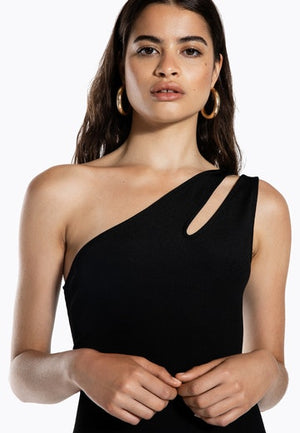 Ivyrevel Cutout One Shoulder Dress Black - Mojo Independent Store
