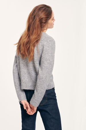 Samsøe Samsøe Nor O-Neck Short Grey Mel