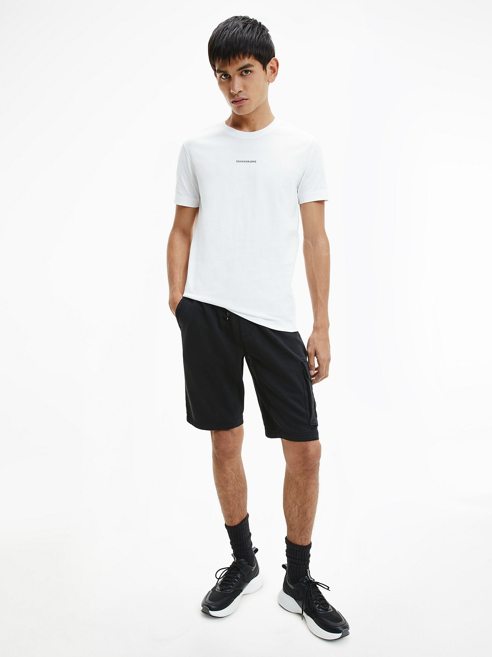 Calvin Klein Micro Branding Essentials T-shirt Bright White