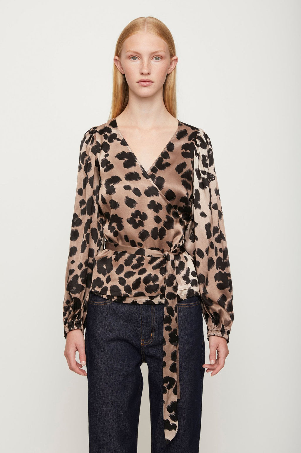Just Female Laguna Blouse Leopard