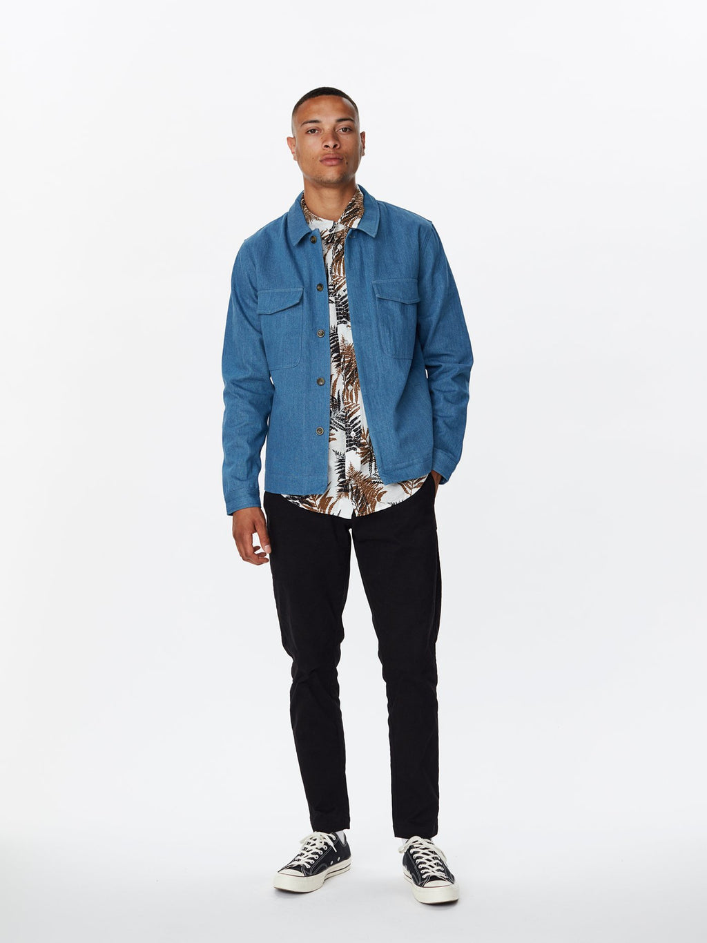 Legends Baton Jacket Indigo Denim
