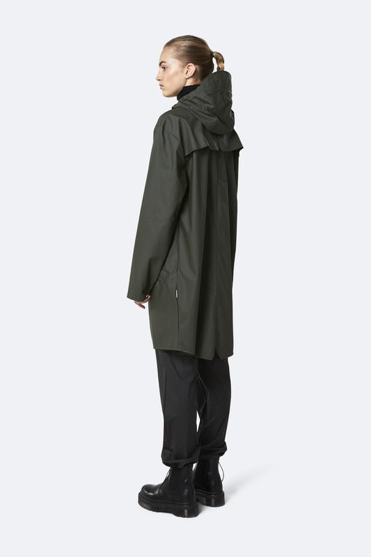 Rains Long Jacket Green - Mojo Independent Store