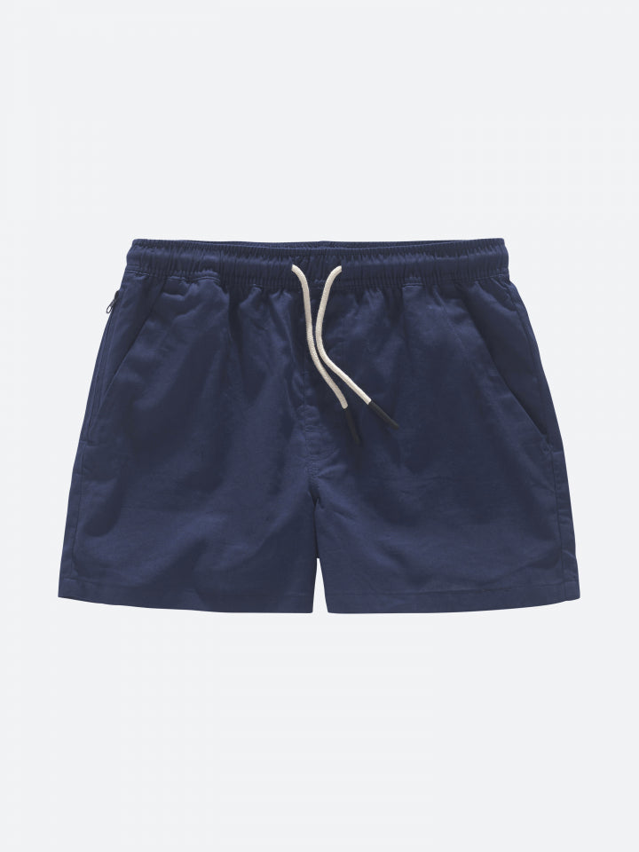 Oas Vacation Shorts Navy Linne - Mojo Independent Store