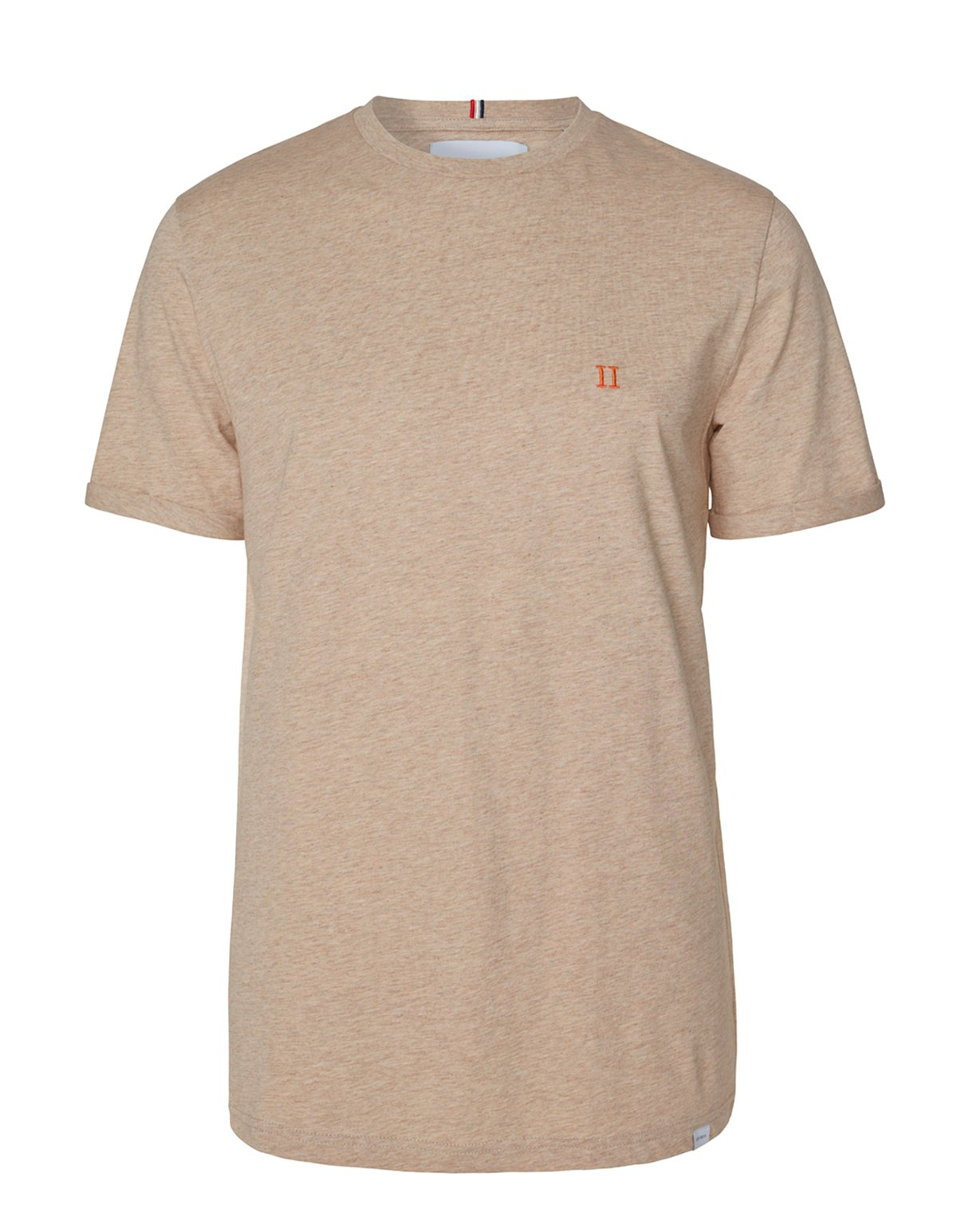 Les Deux Norregaard T-shirt Light Brown Melange/Orange