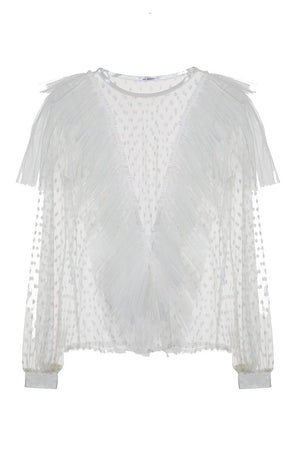 Ida Sjöstedt Maximas Top Dot Tulle Ivory - Mojo Independent Store