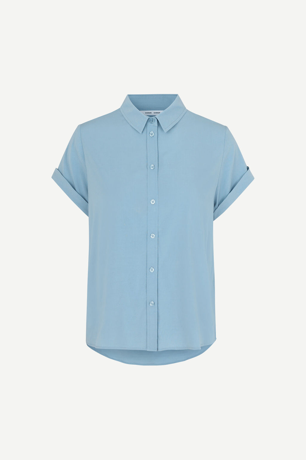 Samsøe Samsøe Majan Ss Shirt Dusty Blue