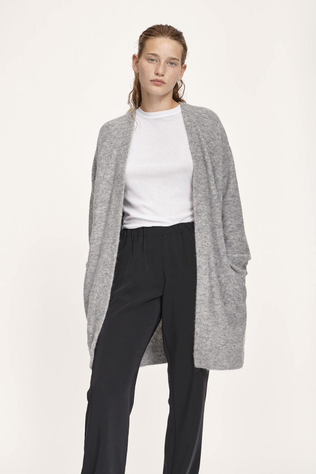 Samsoe Samsoe Nor Cardigan Grey Mel