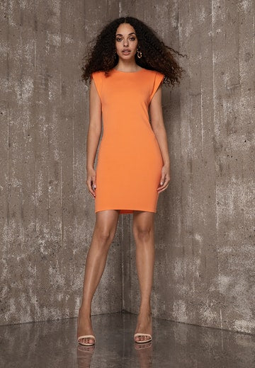 Ivyrevel Shoulder Pad Mini Dress Orange