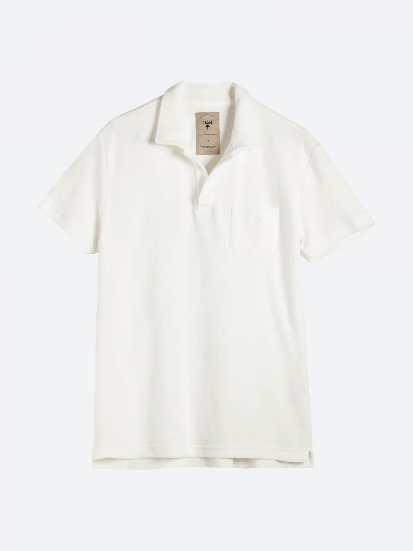 Oas Solid White Terry Shirt