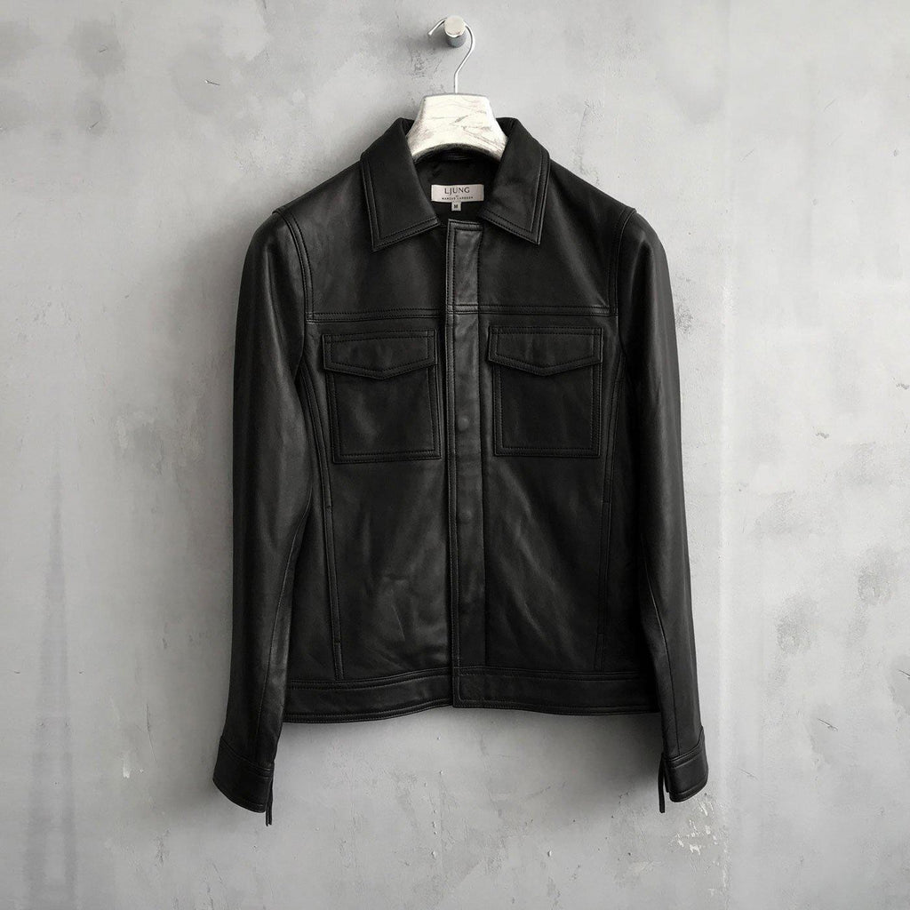 Ljung Axl Leather Jacket Black