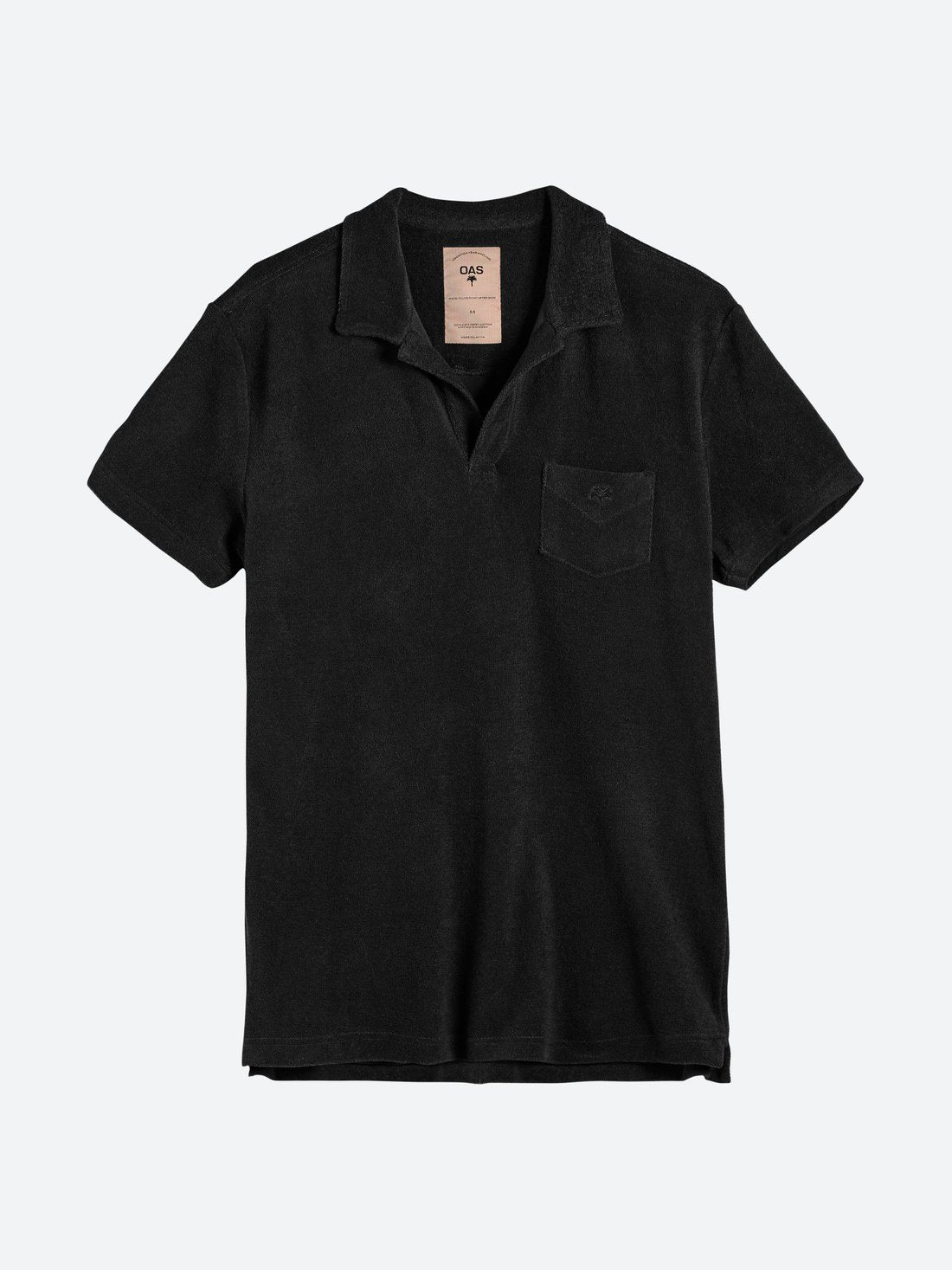 Oas Solid Black Terry Shirt - Mojo Independent Store