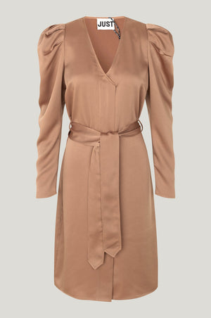 Just Female Cady Dress Walnut