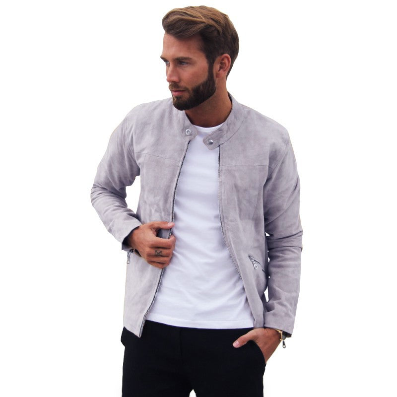 William Strouch Suede Jacket Light Grey - Mojo Independent Store