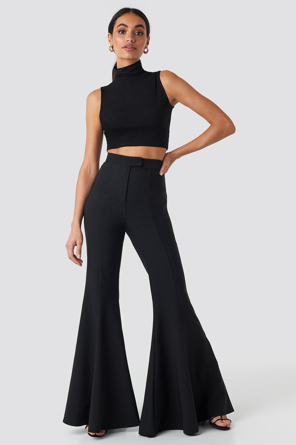 NA-KD Flowy Pants Black