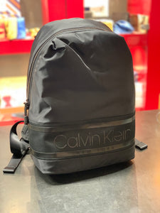 Calvin Klein Striped Logo Backpack Black - Mojo Independent Store