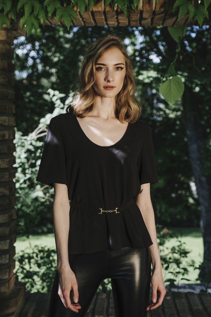 Ida Sjöstedt Jerry Top Bubble Chiffon Black