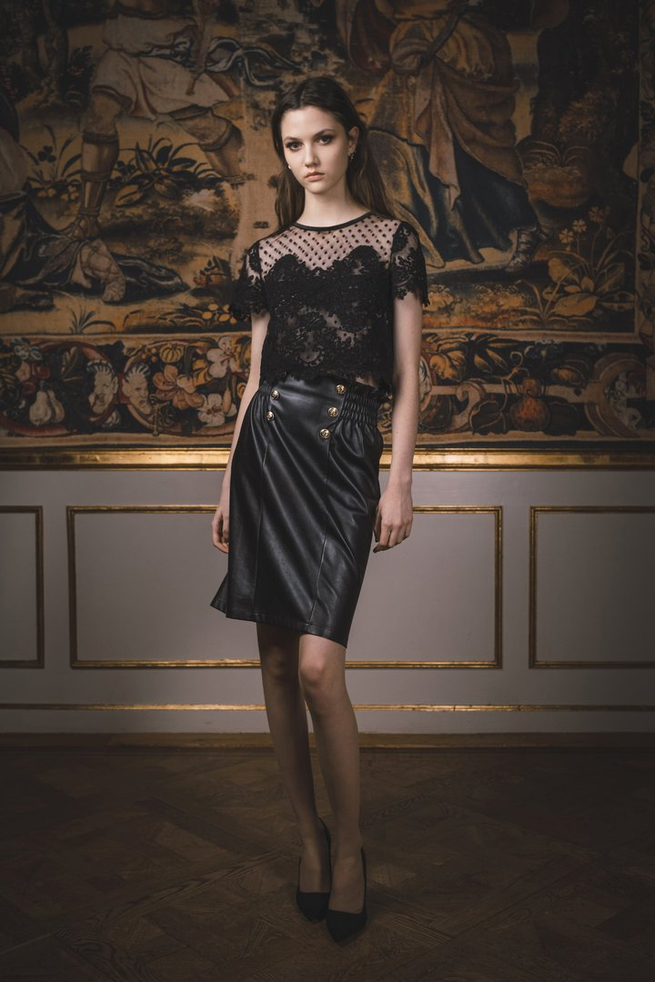 Ida Sjöstedt Keeley Skirt Vegan Leather Black