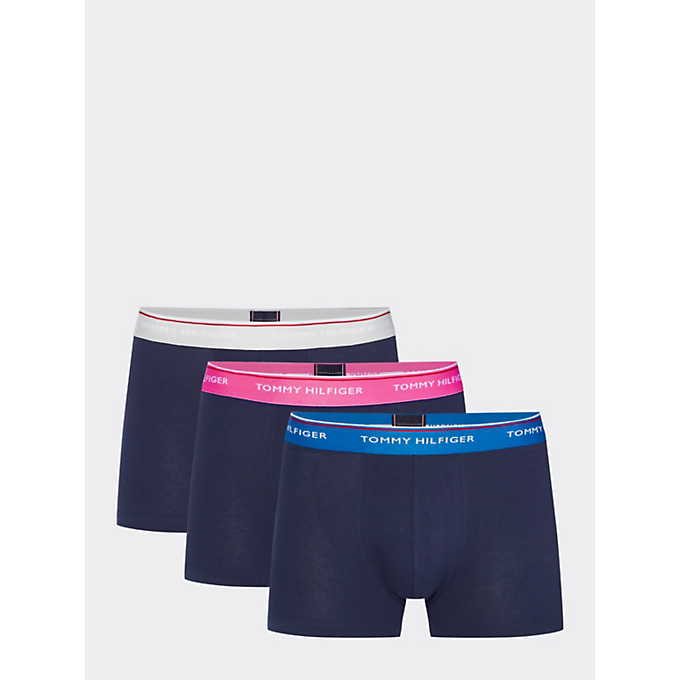 Tommy Hilfiger 3 pack BlueGrotto/Fiesta/pvhWhite - Mojo Independent Store