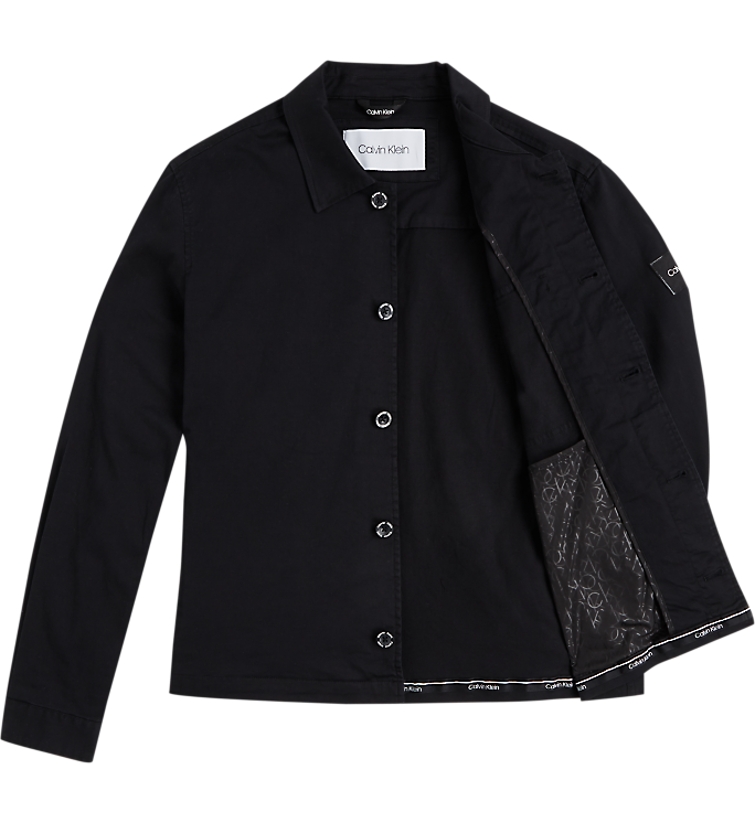 Calvin Klein GMT Washed CTN Workwear Jacket Black - Mojo Independent Store