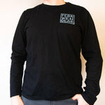 Front view Sidewinder Creek unisex mens long sleeve shirt, color Black