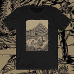 front view Cascade Solitude unisex shirt (black) - Fernweh Gear