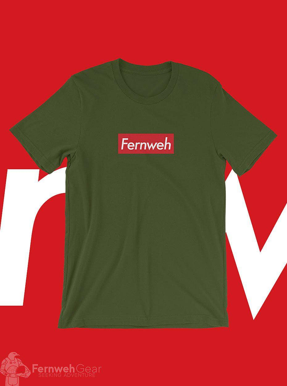 front view Fernweh Skate unisex olive shirt - Fernweh Gear