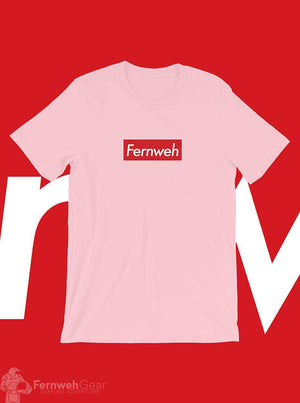 front view Fernweh Skate unisex pink shirt - Fernweh Gear