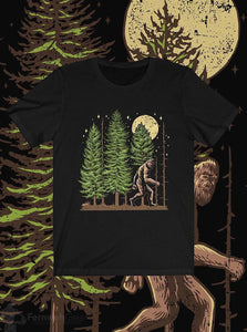 Front view Night Hike Sas unisex shirt (black) - Fernweh Gear